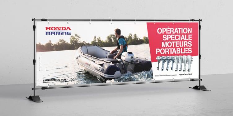 Agence de communication Orléans - Honda marine campagne publicitaire